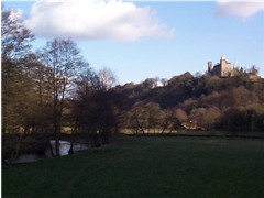 Alton Castle and the River Churnet